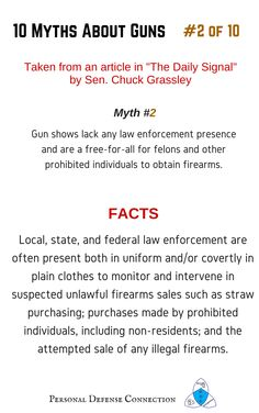 10 Myths about guns: Number 2 of 10: Gun Shows 