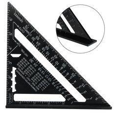 7 ίντσες Μετρικό κράμα αλουμινίου Ταχύτητα τετράγωνο στέγης Τρίγωνο γωνία μοιρογνωμόνιο