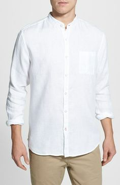 b90a7311988 Toscano Regular Fit Linen Sport Shirt available at  Nordstrom Sports Shirts