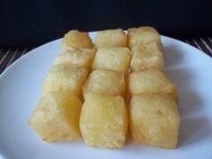 Receita de Mandioca frita cremosa.