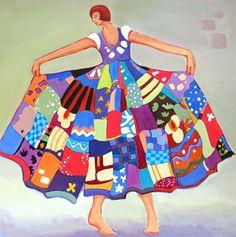 Dream Big - Original Fine Art for Sale - © Carolee Clark Artist Painting, Figure Painting, Clark Art, Art Deco, Sketches Of People, Collage, Arte Pop, Artist Gallery, People Art