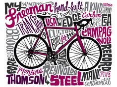 Chris Piascik: All My Bikes – Freeman Transport Hand Drawn Type, Hand Drawn Lettering, Hand Type, Bike Illustration, Reference Images, Slogan, How To Draw Hands, Typography, Beer Garden