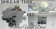 here's another Dollar Store DIY project! This time I'm making a small DIY bling mirror wall art home decor with items found at Dollar Tree.