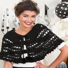 Black Beauty Crochet Cape