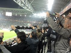 Calcio - futball in Italy is as important as religion. One of the firs questions you will be asked for - which futball team you support. This picture was made during Juve match on Juventus Stadium.