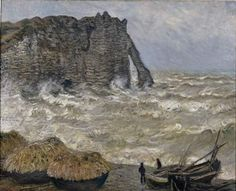 Claude Monet [Paris, 1840 – Giverny, 1926] Rough Sea at Etretat Oil on canvas H. 81; W.100 cm Acquired in 1902