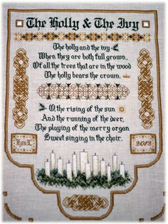 Holly and Ivy Sampler by Teresa Wentzler