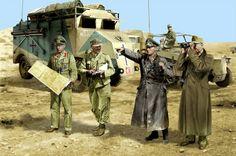 1941 Rommel con su estado mayor