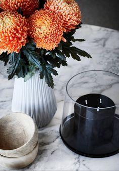 Garderobenhaken Keramik Blume Orange 4 x 13 cm