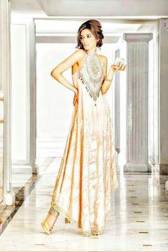 Light Pink Pakistani Lehenga with Silver working... Glamorous@ CremeDeModa