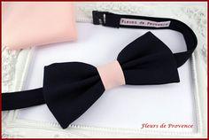 Set Noeud Papillon et Pochette costume assortie Tissu bleu