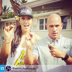 Hey you two! Go get some surf & turf #GoKelly #minishaka  #Repost #MichelleWie