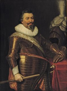 Jan Antonisz. van Ravesteyn, Portrait of an officer, three-quarter-length, in armour with a white sash and molensteenkraag, standing beside a draped table with gloves and a helmet oil on panel, 117.5 x 88 cm, Christie's Amsterdam 2007 (Goudstikker)