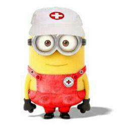 Cute Red Cross Minion