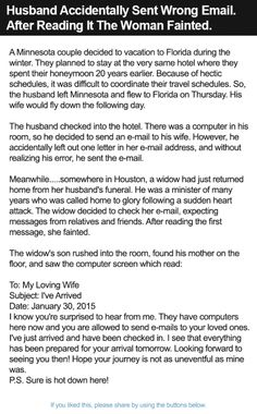 Husband Accidentally Sent Wrong Email. After Reading It The Woman Fainted. | Alltopics
