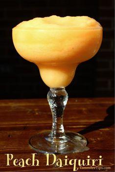Fresh Peach Daiquiri Recipe is the perfect frozen cocktail! So easy to ...