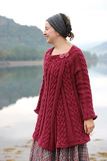 "Westering home designed by Kate Davies and pattern available in her new book YOKES which will be released end October 2014. Knit in an Aran 10ply to fit sizes 30 - 48"" it is a bottom-up, in-the-round one piece knit."