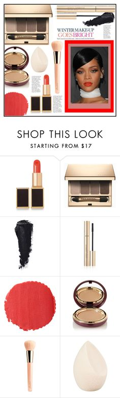 """""""Winter Makeup Goes Bright! 💋"""" by christinacastro830 ❤ liked on Polyvore featuring beauty, Tom Ford, Clarins, Dolce&Gabbana, Burberry, Wander Beauty, Celestine, Guerlain and Christian Dior"""