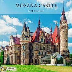 The Moszna Castle is a historic castle and residence located in a small village of Moszna in Poland. The castle is one of the best known monuments in the western part of Upper Silesia. The history of this building begins in the 17th century, although much older cellars were found in the gardens. Even though the castle was originally designed in a Baroque style, later an eastern neo-Gothic wing and a western neo-Renaissance wing were added.