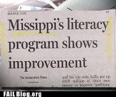 epic fail  - Literacy FAIL