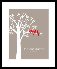 Mother's Day Gift  Personalized Custom Love Birds by karimachal, $21.00