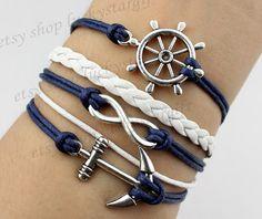 Steering wheel infinity & cool anchor bracelet by luckystargift, $5.39