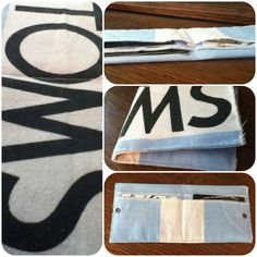 Wallet made out of a Toms flag 