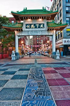 Chinatown Arch, Boston Massachusetts I've always wanted to go to a place that seems as if it's actually in china. I think this would be a great experience.