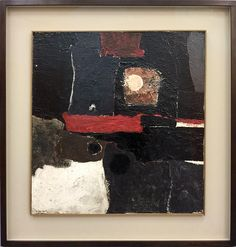 Gillian Ayres b.1930 Abstract 1956 Oil on board 70 by 65.5cm Signed and dated 56; further signed on the reverse