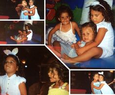 Me at Khadijah's birthday party in the chubby one with the blue dress MALAK is the one with the yellow dress in the bottom left I'm in the biggest one up on the right and down on the right and in 2 left ones in the top I JUST LOVE THEM SO MUCH ❤️❤️❤️