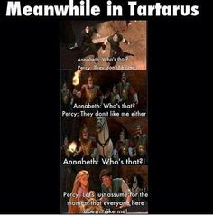 Percy Jackson in Tartarus. Except, Annabeth had met most of the monsters too… Percy Jackson Fandom, Percy Jackson Fan Art, Percy Jackson Memes, Percy Jackson Books, Percabeth, Solangelo, Percy E Annabeth, The Kane Chronicles, Tartarus