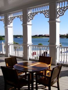 You can see the spot where we got engaged across the lagoon at the Polynesian :) ...Grand Floridian Resort & Spa