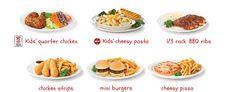 Choose a main Chicken Strips, Chicken Wings, Swiss Chalet, Mini Burgers, Kids Menu, Bbq Ribs, Chicken Sandwich, Rotisserie Chicken, Fries
