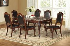 d4563d018340 Mariano Furniture - D37 7 -Piece Dning Table Set - BQ-D73 7pc. Daining  TableFurniture Dining TableRustic ...