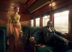 The Look: noir-ish photoshoot