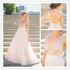 Sweetheart A-Line Prom Dresses,Deep V-Neck Prom Dresses,Chiffon Prom Dresses,Backless Prom Dresses