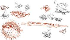 Character design, Finding Nemo  Peter De Seve
