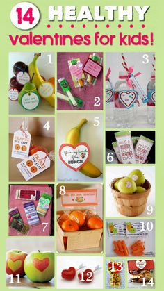 Healthy Valentines for kids! No Candy Valentines. Skip the candy and have your kids give something Healthy!