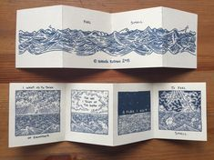 Feel Small Accordion Book and Print by ThisMightHurtonEtsy on Etsy
