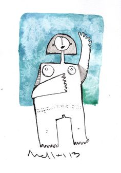 Oaths No. 2  Ink and Watercolor Drawing on Paper by mellonfineart, $50.00