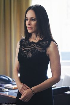 Madeleine Stowe confirms Revenge exit after shock death of Victoria Madeleine Stowe, Victoria Grayson, Illusion Dress, Preppy Style, Mother Of The Bride, Sheath Dress, Fashion Beauty, Style Inspiration, Outfits