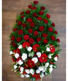 Funeral Bouquet, Funeral Flowers, Christmas Wreaths, Christmas Tree, Holiday Decor, Button Art, Teal Christmas Tree, Xmas Trees, Christmas Trees