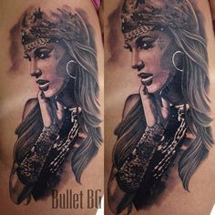 """@bulletbg's photo: """"Gypsy girl : yesterday : guest spot at Polaco Tattoo Shop : Sao Paulo : Brasil : done with #kwadron needles #bulletbg"""""""