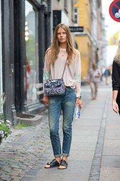 Caroline Brasch Nielsen with a Chanel bag