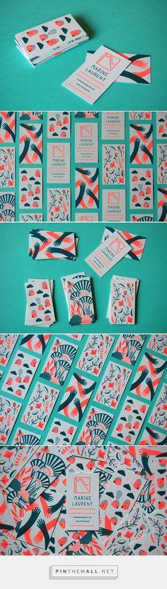 Marine Laurent Business Card Design (Designer Unkown)   Fivestar Branding Agency – Design and Branding Agency & Curated Inspiration Gallery