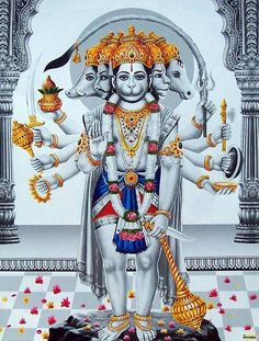 Panchmukhi Hanuman (With images) Hanuman Jayanthi, Hanuman Tattoo, Hanuman Photos, Hanuman Images, Lakshmi Images, Durga Maa, Krishna Images, Hanuman Ji Wallpapers, Lord Vishnu Wallpapers