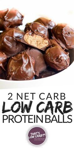 Low Carb Peanut Butter Balls are the perfect keto snack for when you are craving some chocolate! No need to break the way of eating when you can make these epic keto chocolate peanut butter balls…More 6 Mouth Watering Low Carb Dessert Recipes Healthy Protein Snacks, Low Carb Protein, Keto Snacks, Low Carb Keto, Keto Fat, Liw Carb Snacks, Keto Protein Bars, Diabetic Snacks, Low Carb Sweets