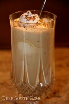 Coffee Punch Float •4 cups of brewed chocolate flavored coffee (like Godiva Chocolate Truffle)   •3 tablespoons of granulated sugar, or to taste   •1-1/2 quart container of vanilla ice cream, divided   •1 cup of heavy whipping cream   •1-1/2 tablespoons of granulated sugar   •1 teaspoon of pure vanilla extract   •4 tablespoons of chocolate syrup   •Grated chocolate for garnish