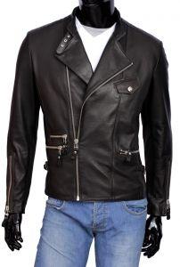 Ramoneska Skórzana Męska DORJAN CM LEO950_3 Leather Jacket, Model, Jackets, Fashion, Studded Leather Jacket, Down Jackets, Moda, Leather Jackets