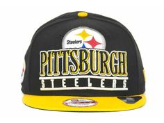Pittsburgh Steelers NFL Stack Punch 9FIFTY Cap Hats New Era Snapback 563718b34